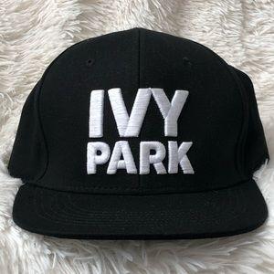 NWOT 🐝 IVY PARK 🐝 Black Snapback Cap